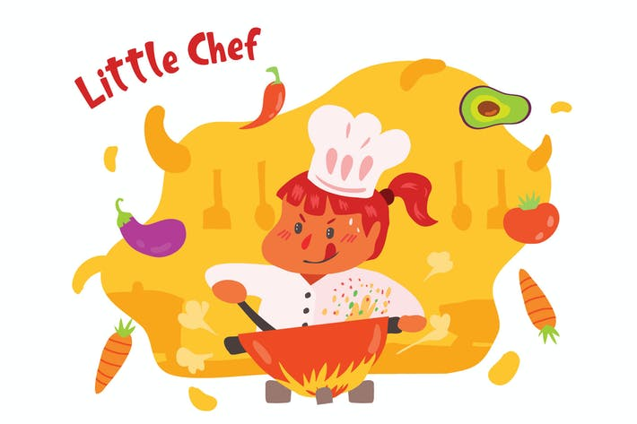 Thumbnail for Little Chef - Vector Illustration