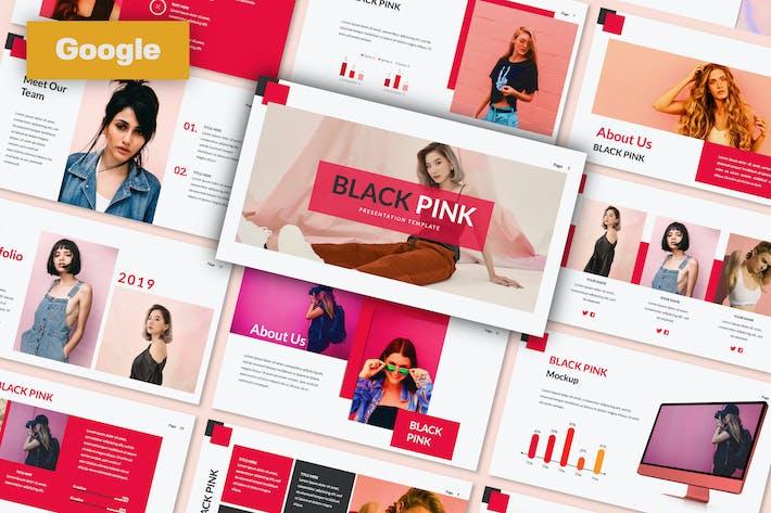 Thumbnail for Black Pink Creative Google Slide