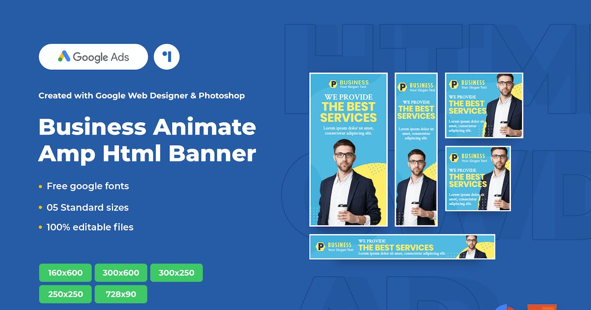 Download Business Animate Ads Template AMPHTML Banners V04 by 1protheme
