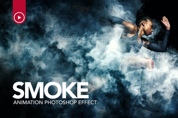 Thumbnail for Smoke Animation Photoshop Action