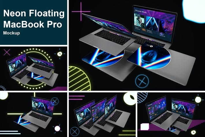 Thumbnail for Neon Floating MacBook Pro