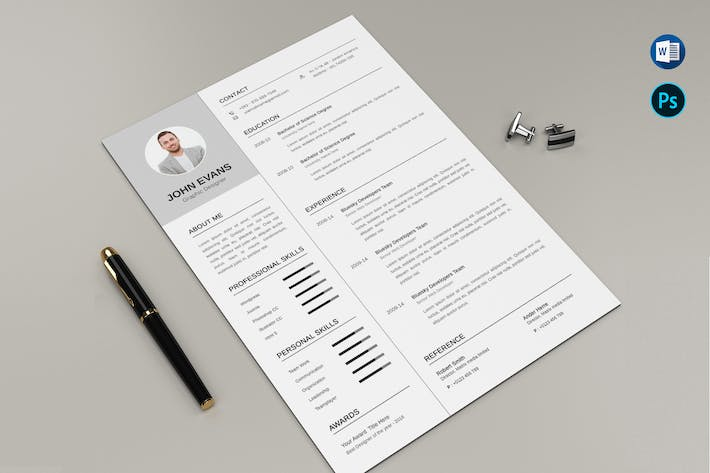 Thumbnail for Business CV & Letter Clear Microsoft Word Office