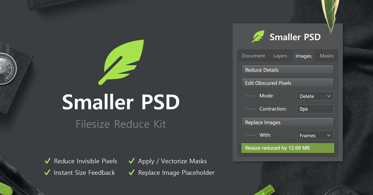Download Smaller PSD - Filesize Reduce Kit by h3-design