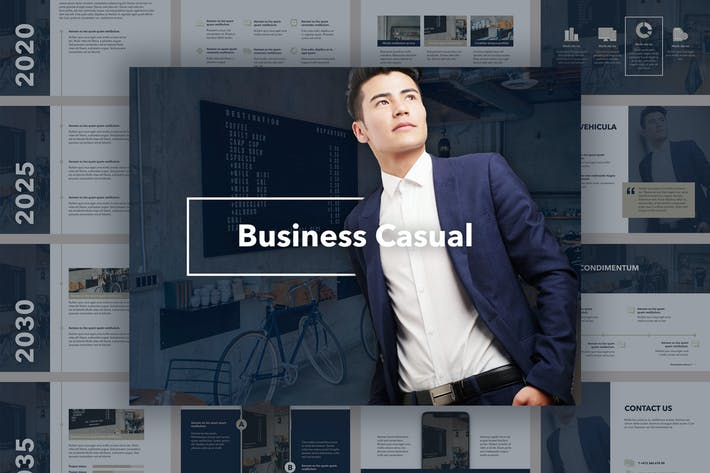 Thumbnail for Business Casual PowerPoint Template