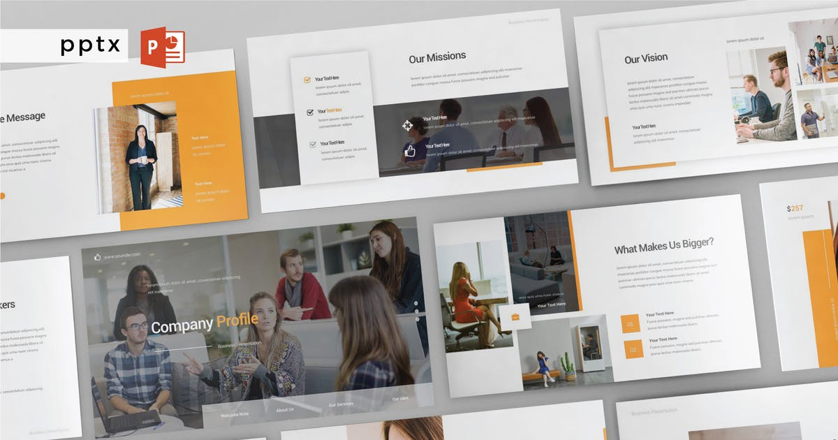 Download COMPANY PROFILE - Multipurpose Powerpoint V177 by Shafura