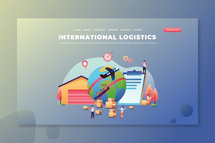 Thumbnail for International Logistics - PSD and AI Landing Page