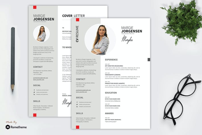 Cover Image For Margie - Creative Resume Template