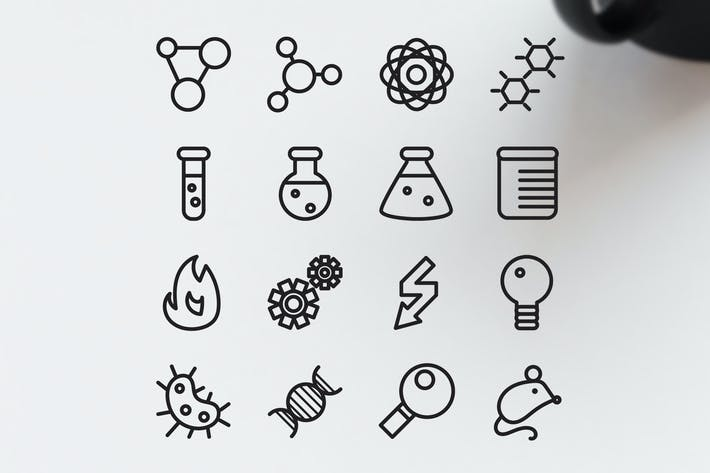 Thumbnail for 16 Science Icons