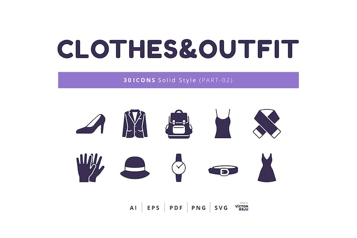 Thumbnail for 30 Icons Clothes&Outfit Part-02 Solid Style