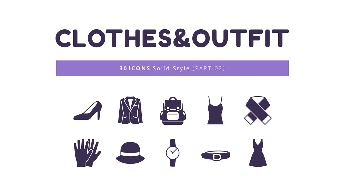 Download 30 Icons Clothes&Outfit Part-02 Solid Style by Victoruler