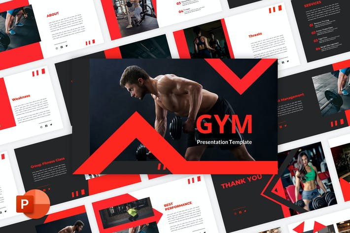 Thumbnail for Gym - Fitness PowerPoint Template