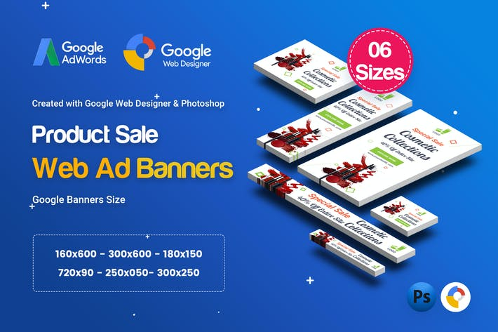 Thumbnail for C24 - Cosmetic Banners HTML5 - GWD & PSD