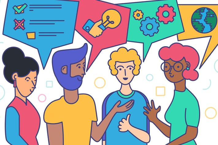 Thumbnail for Diverse People Discussion And Business Talk Image