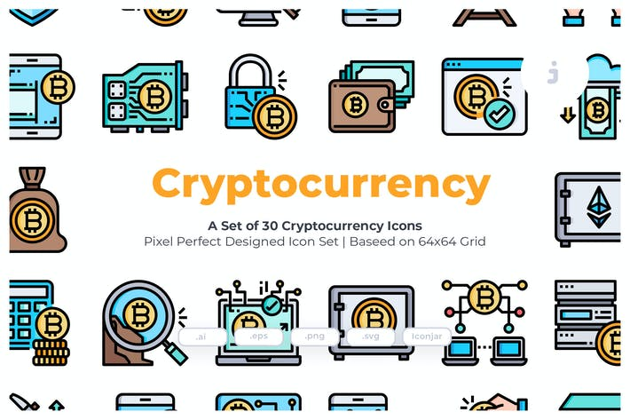 Thumbnail for 30 KryptowährungsIcons