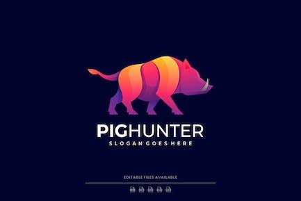 Pig Gradient Colorful Logo
