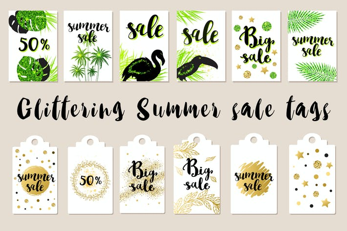 Thumbnail for Glittering Summer Sale Tags