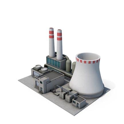 Dibujos animados de la planta de energía