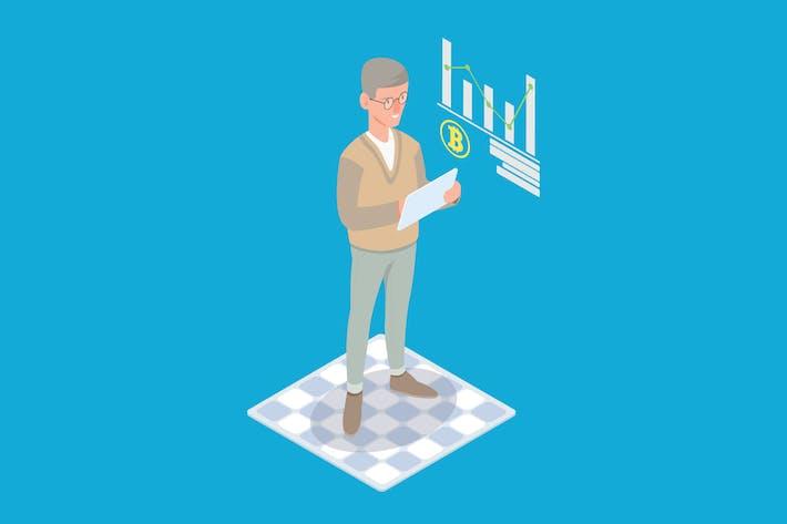 Thumbnail for Cryptocurrency Market Analysis Isometric - Li