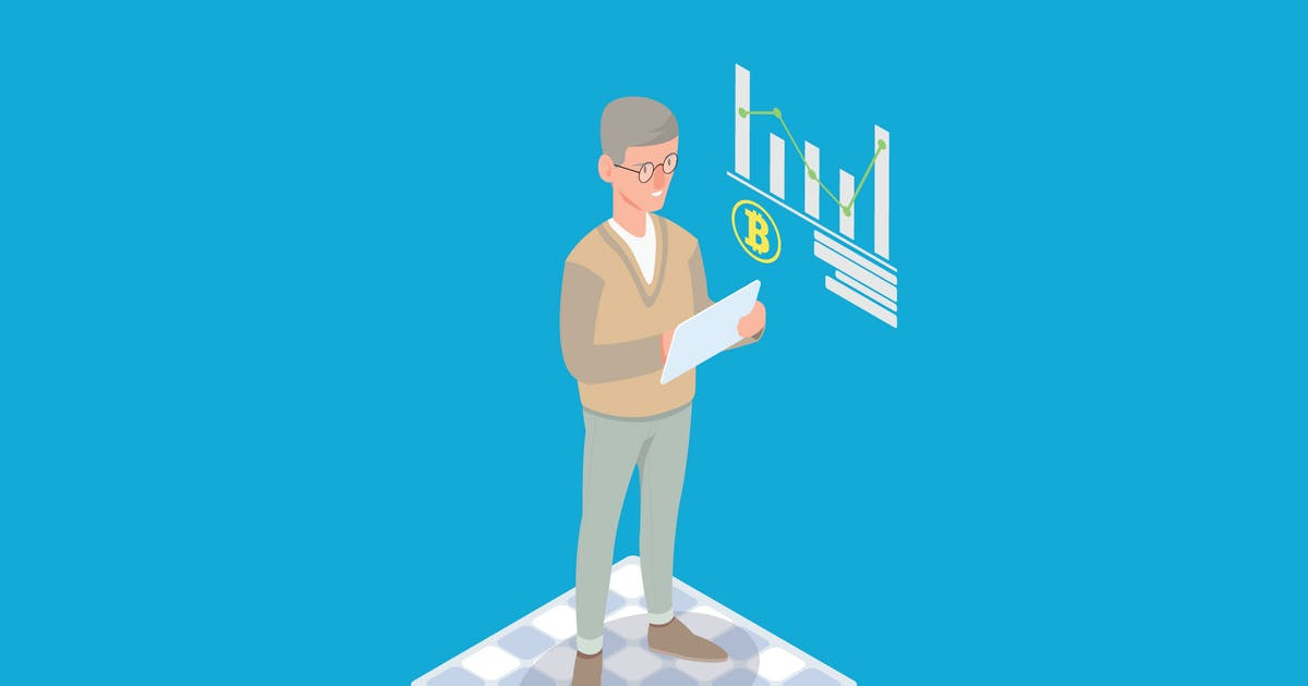 Download Cryptocurrency Market Analysis Isometric - Li by angelbi88