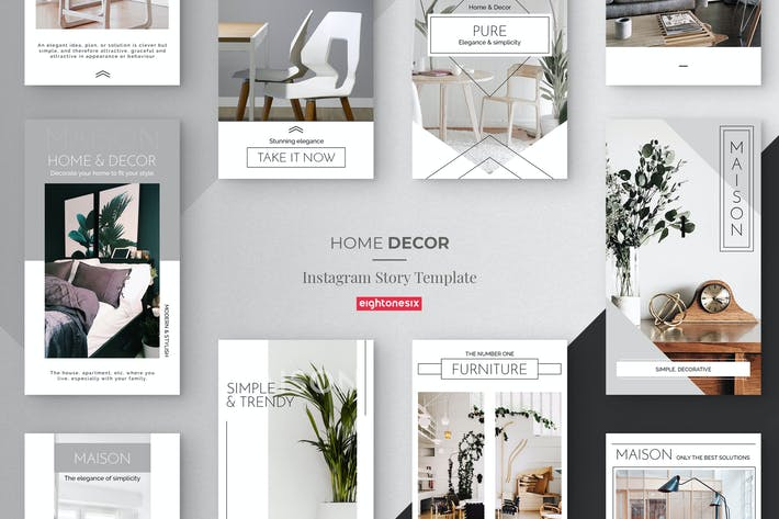 Thumbnail for Home Decor Instagram Story Template