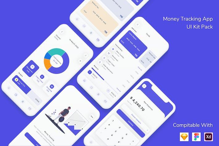 Thumbnail for Money Tracking App UI Kit Pack