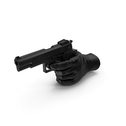Glove Pointing a Gun
