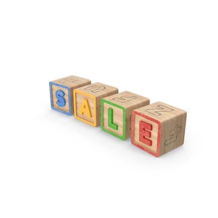 Venta de bloques del alfabeto
