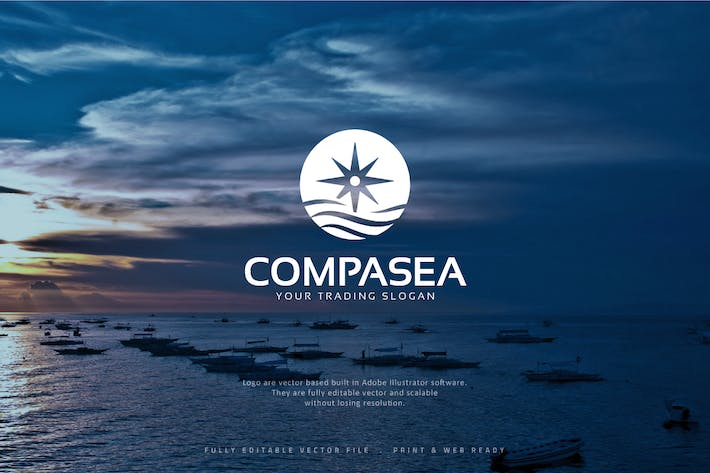 Thumbnail for Compass Sea Logo