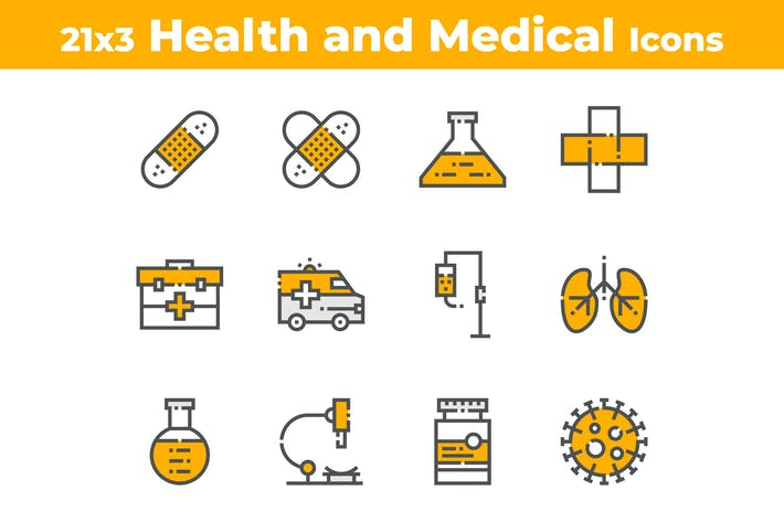 Thumbnail for 21 Health and Medical Icons
