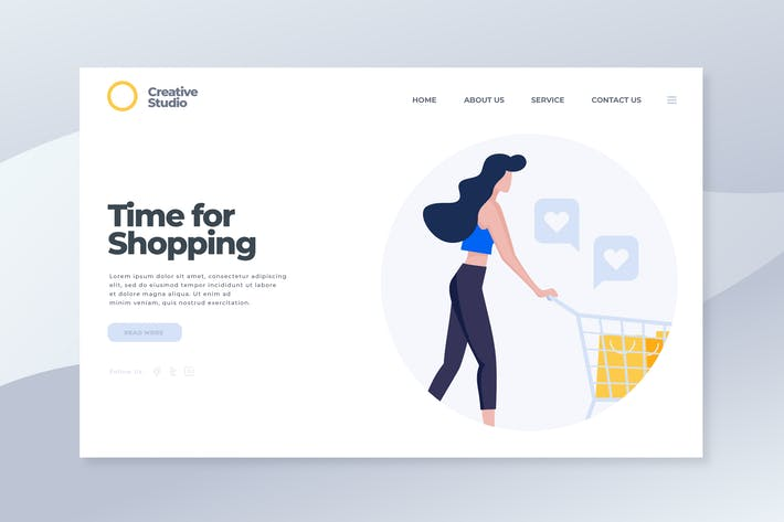 Thumbnail for Time for Shopping - Landing Page