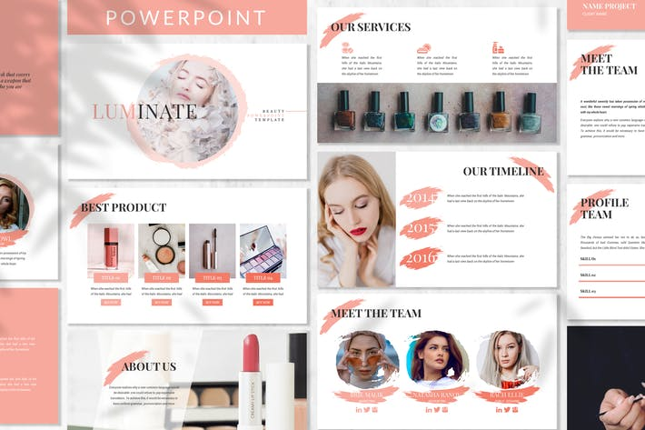 Thumbnail for Luminate - Fashion Beauty Powerpoint Template