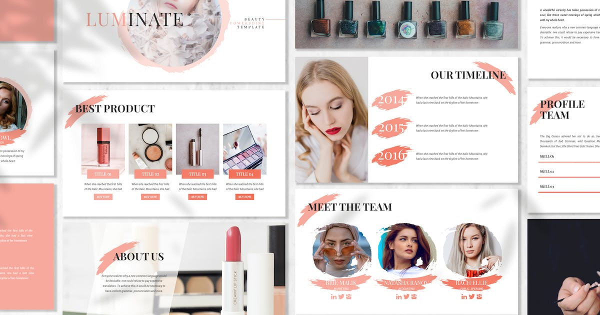 Download Luminate - Fashion Beauty Powerpoint Template by 83des