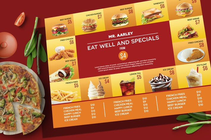 Thumbnail for Fast Food Menu Board