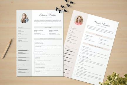 Feminine CV & Resume Template