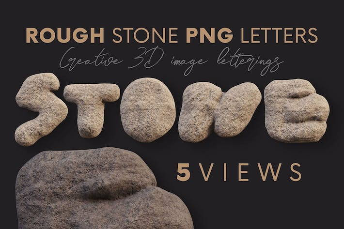 Thumbnail for Rough Stone - 3D Lettering