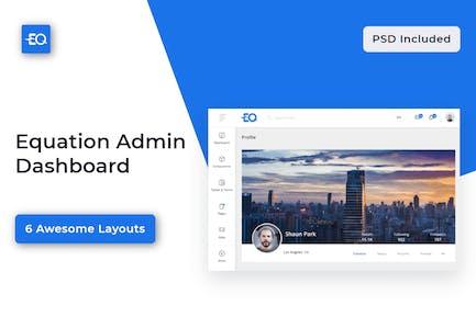 Equation - Responsive Admin Dashboard Template