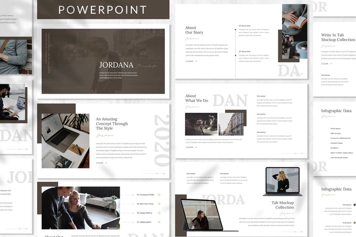 Cover Image For Jordana - Business Powerpoint Template