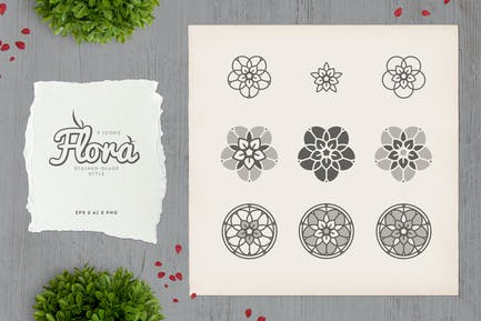 Flora - Stained-glass Icons