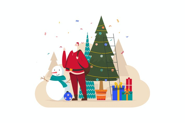 Thumbnail for Christmas Flat Vector Illustration