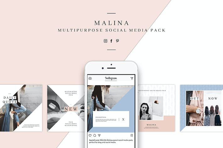 Thumbnail for MALINA Social Media Pack & 20 Pattern