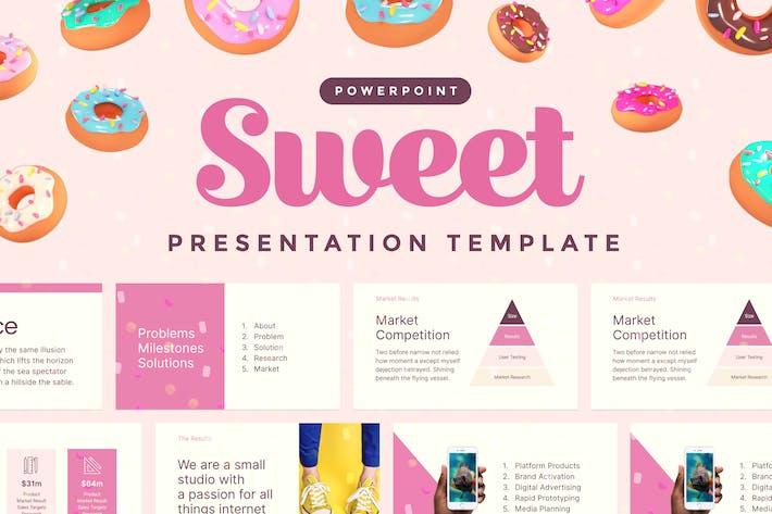 Thumbnail for Сладкий — Шаблон презентации Powerpoint