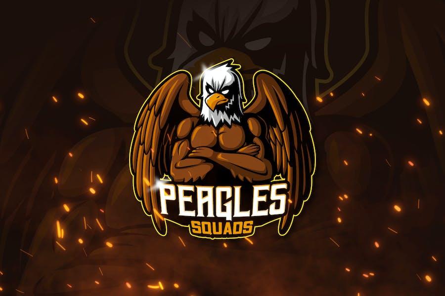 PEAGLES - Mascot & Esports Logo