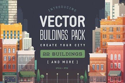 Vektor Gebäude-Paket