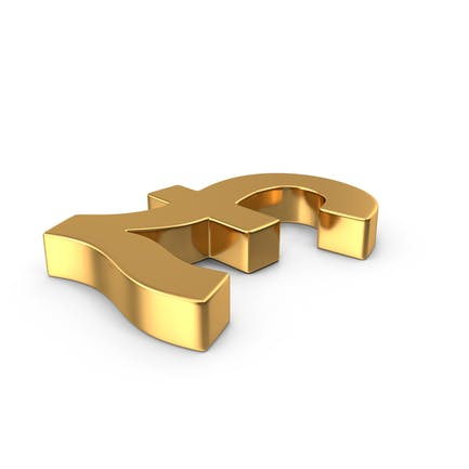 Pound Sign Gold Side