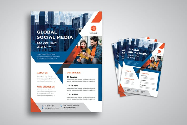 Thumbnail for Social Media Marketing Agency Flyer