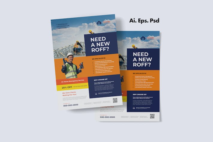 Thumbnail for Roofing Service Flyer Design