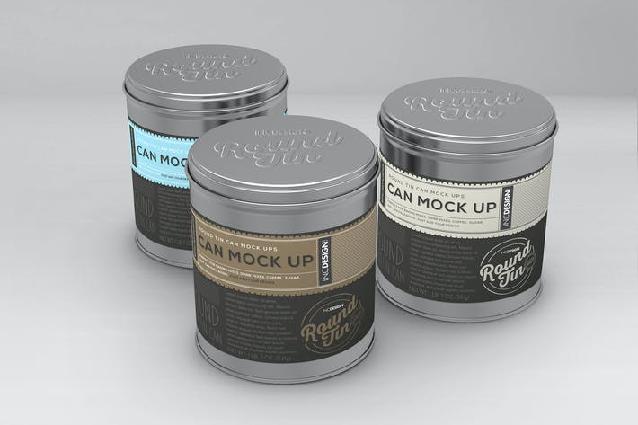 Thumbnail for Round Tin Cans Vol.1 Packaging Mock Ups