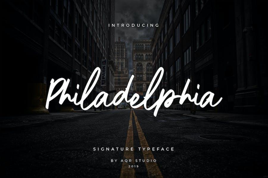 Philadelphia Siganture Font