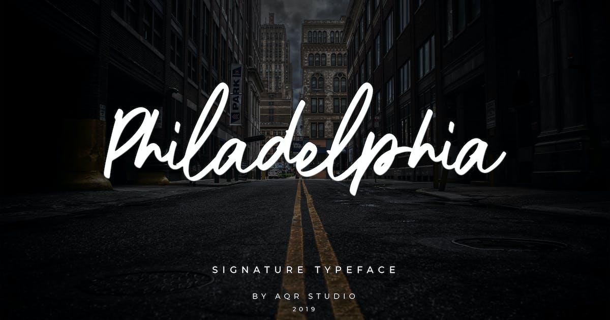 Philadelphia Siganture Font by aqrstudio