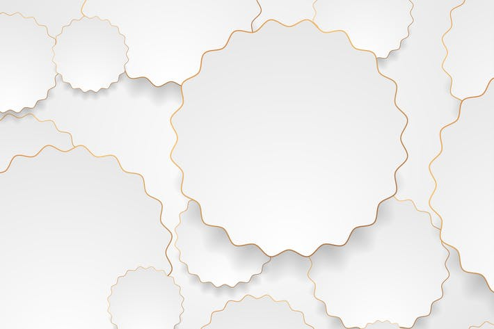 Thumbnail for Grey bronze wavy circles abstract background